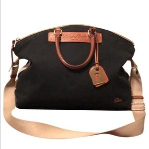 Dooney & Bourke Vintage Canvas & Leather Bag